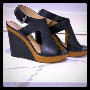 Black Michael Kors Wedges